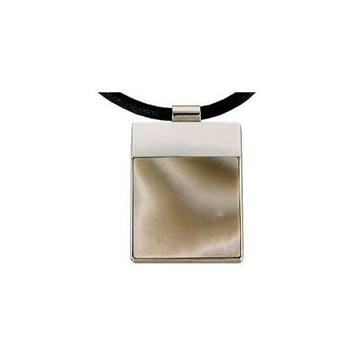 Wisior srebrny z krzemieniem pasiastym A801, kolor szary