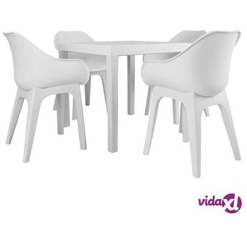 Vidaxl 5-częściowy zestaw mebli ogrodowych, plastik, biały (8719883563459)