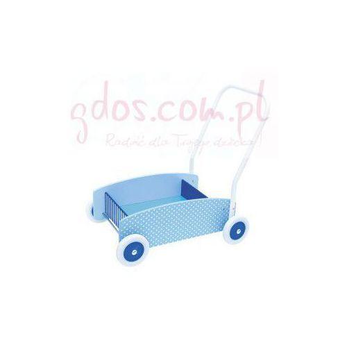 Drewniany chodzik, wózek -pchacz blue - sprawdź w wybranym sklepie