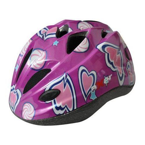 Kask rowerowy dla dzieci Cool - Fioletowy, produkt marki Axer Sport