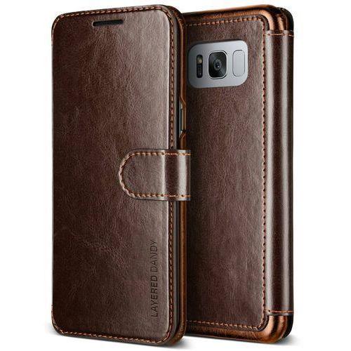 Etui VRS Design Layered Dandy Galaxy S8 Brown (8809477685466)