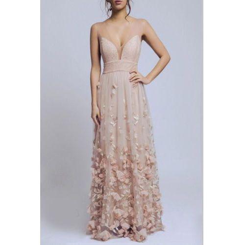 Soky soka sukienka beżowa 60003-1, Soky&soka