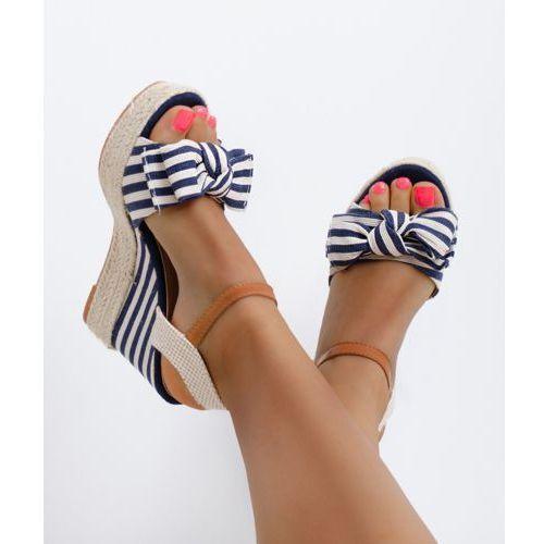 Sandały Koturny Espadryle Madam Marina Granat, 1001 99-18