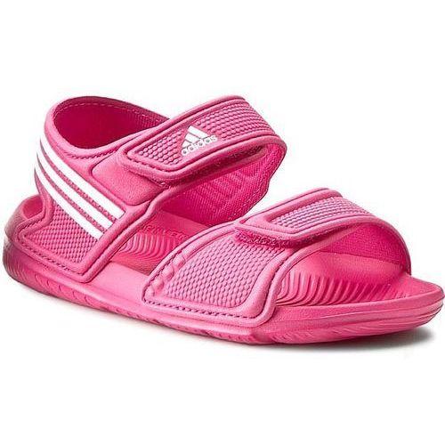 Sandały dziecięce  akwah 9 k (af3867) - różowy marki Adidas