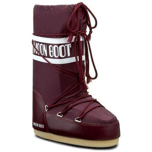 Śniegowce MOON BOOT - Nylon 14004400074 Borgogna D, kolor czerwony
