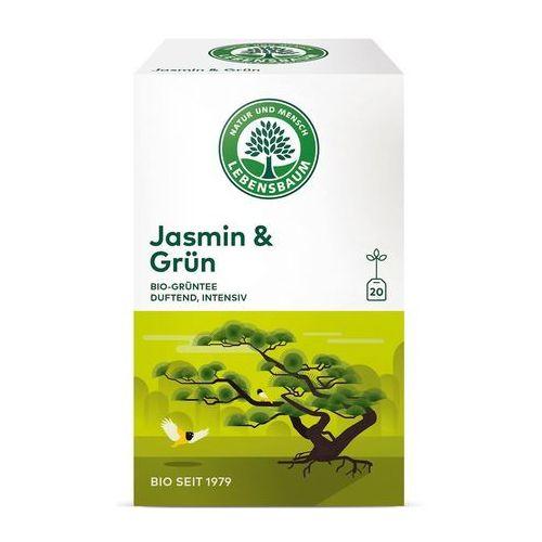 Lebensbaum (przyprawy, herbaty, kawy) Herbata zielona jaśminowa ekspresowa bio (20 x 1,5 g) - lebensbaum (4012346206202)