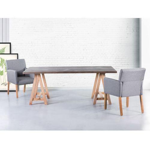 Stół szary - 200x100 cm - kuchenny - do jadalni - MOORE, marki Beliani do zakupu w Beliani