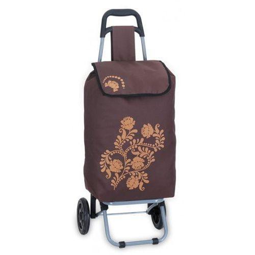 Wózek na zakupy brązowy niemieckiej marki Southwest (wózek na zakupy)