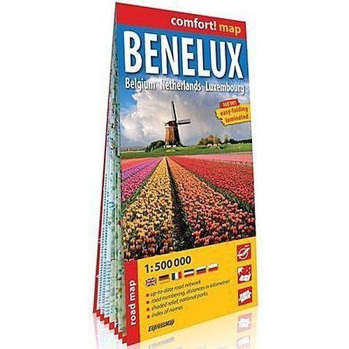 Benelux Belgia Holandia Luksemburg (Benelux. Belgium, Netherlands, Luxembourg); laminowana mapa - Praca zbiorowa, ExpressMap