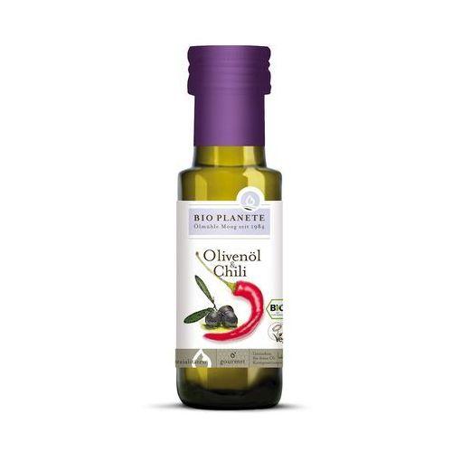 Oliwa z oliwek z chili bio 100 ml - bio planete marki Bio planete (oleje i oliwy)
