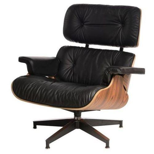 Fotel Vip inspirowany Lounge Chair - czarny ||rosewood, 42276