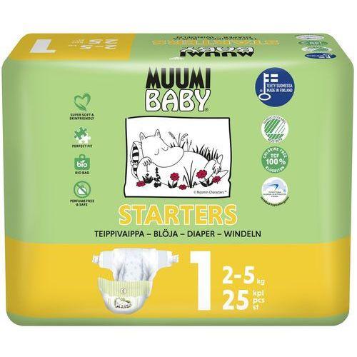 Muumi baby pieluchy 1 newborn 25szt pieluszki hipoalergiczne i ekologiczne (2-5kg) (6414100587059)