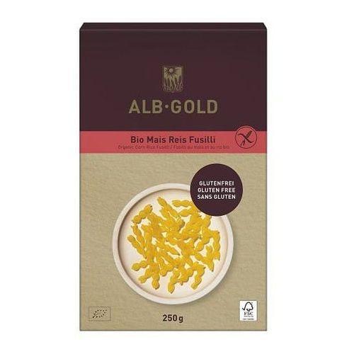 Alb-gold (makarony) Makaron (kukurydziano - ryżowy) świderki bezglutenowy bio 250 g - alb-gold (4018722344360)