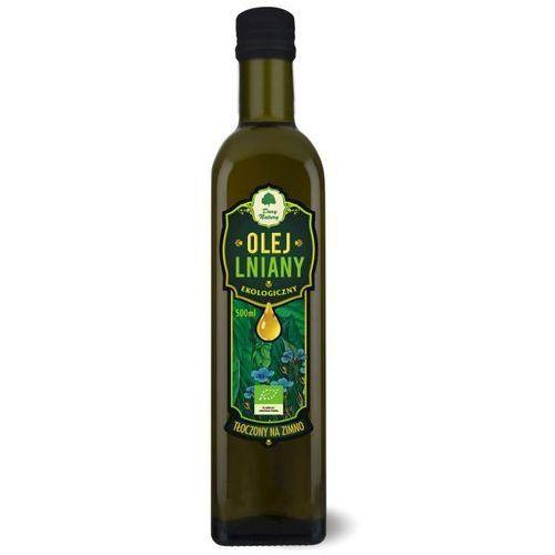 Dary natury - inne bio Olej lniany virgin bio 500 ml - dary natury (5902581616272)