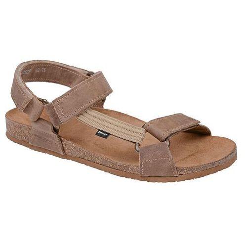 Sandały 415cp beżowe naturform fussbett jezuski - beżowy   brązowy marki Otmęt