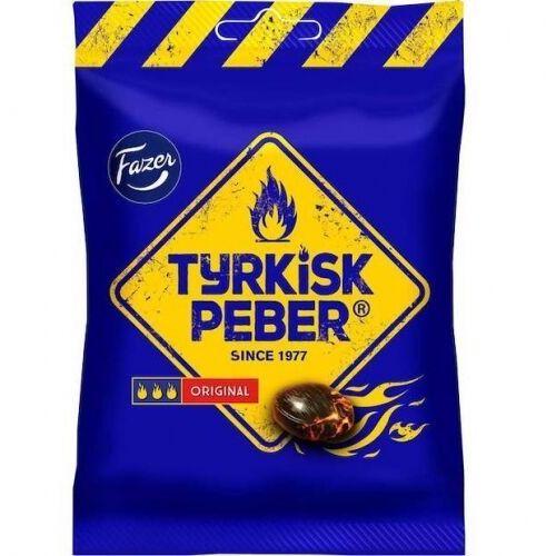 Fazer - tyrkisk peber - original - cukierki lukrecjowe ze słono-pieprzowym wnętrzem - 120g - z finlandii