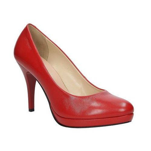Szpilki czerwone skórzane  9438 marki Sala