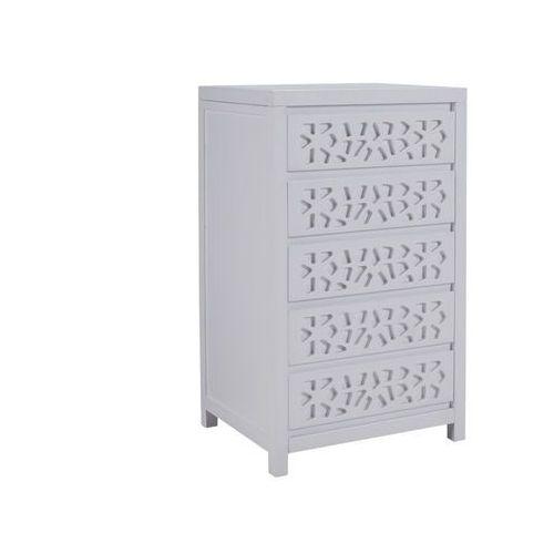 a00f86352381d Vente-unique Komoda dolly z 5 szufladami – drewno i mdf – biały lakier 1  629,99 zł Komoda DOLLY 5 szuflad z drewna i MDF lakierowana biel – stylowe,  ...
