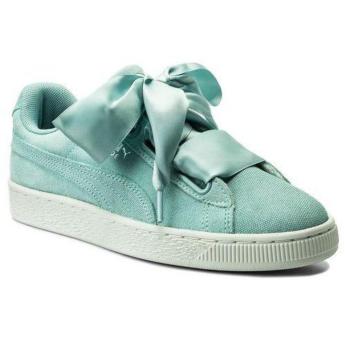 Sneakersy - suede heart pebble wn's 365210 03 aquifer/blue flower marki Puma