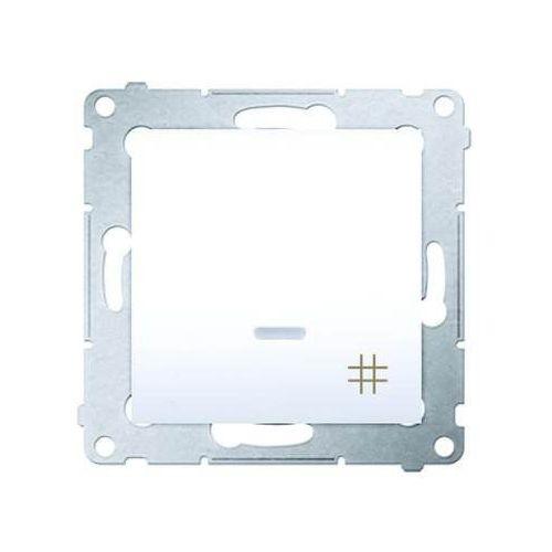 Łącznik krzyżowy z podświetleniem biały DW7L.01/11 SIMON54 (5902787822705)
