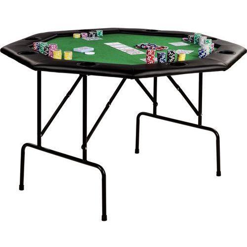 Mks Zielony stół do pokera 122x122x76 cm poker kasyno - zielony