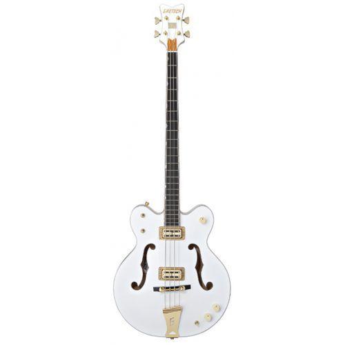 g6136lsb white falcon bass, 34″ scale, ebony fingerboard, white gitara basowa marki Gretsch