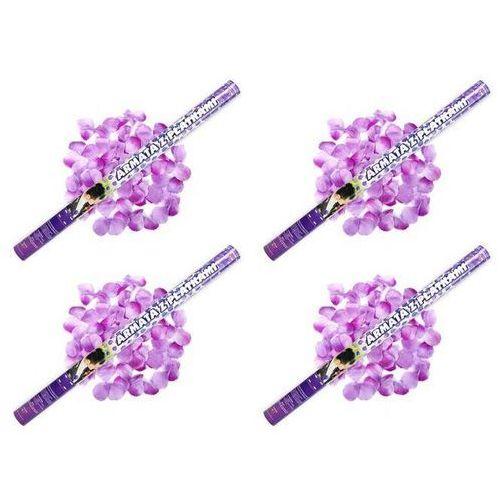 Tuba strzelająca, liliowe sztuczne płatki róż, 80 cm, 1 szt. marki Ap