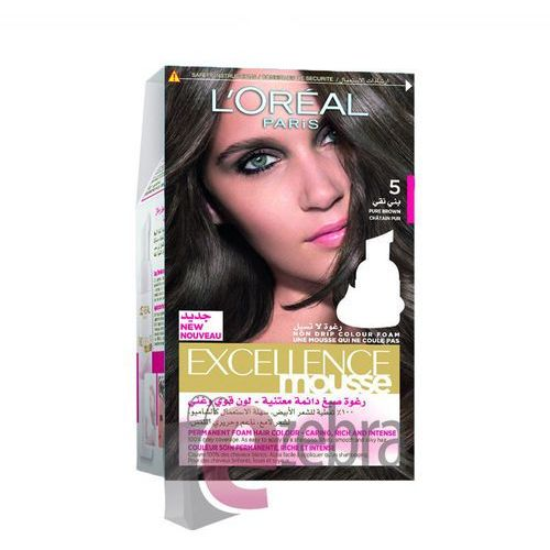 LOREAL FARBA DO WŁOSÓW EXCELLENCE MOUSSE 5 BROWN - 5 PURE BROWN, Loreal