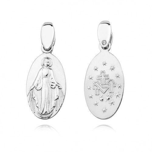 Cudowny medalik z Matką Bożą, dwustronny, KS0187C