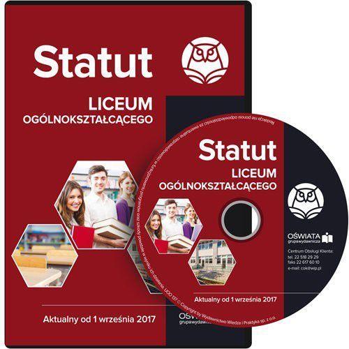 Statut liceum ogólnokształcącego Aktualny od 1 września 2017 (9788326967085)