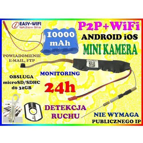 UKRYTA MINI KAMERA WiFi P2P FULL HD Android iOS + AKUMULATOR 10000mAh, produkt marki Sklep Easy-WiFi