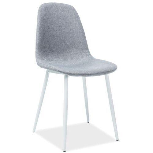 Signal Krzesło z jednoczęściowym siedziskiem na białych nogach fox