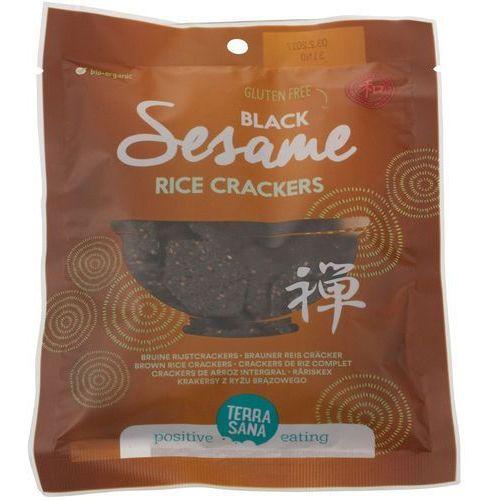 Terrasana Krakersy z ryżu brązowego z czarnym sezamem bio 60 g - (8713576275032)