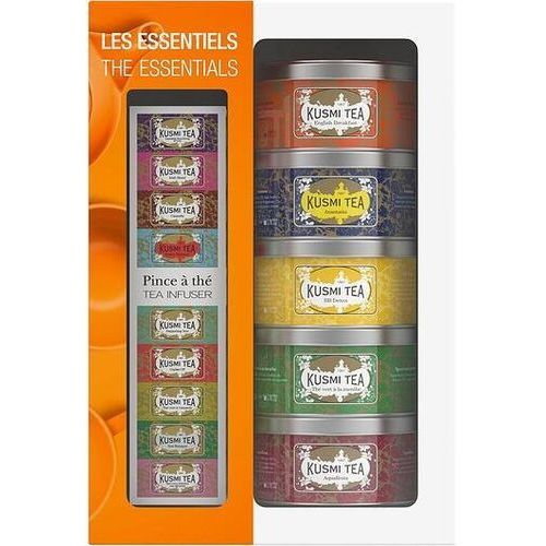 Herbaty the essentials w zestawie z zaparzaczką 5 x 25g marki Kusmi