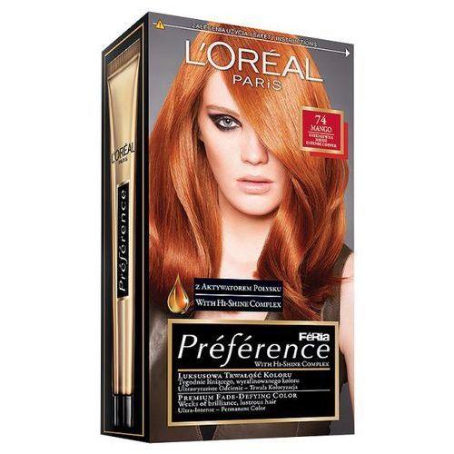 Farba do włosów Feria Preference - 74 Intensywna Miedź, L'Oréal