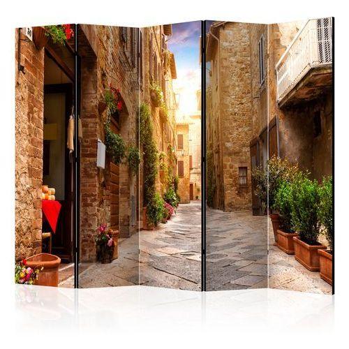 Artgeist Parawan 5-częściowy - kolorowa uliczka w toskanii ii [room dividers] bogata chata