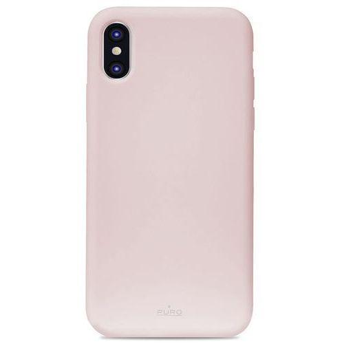 Puro icon cover etui obudowa iphone xs max (różowy) limited edition