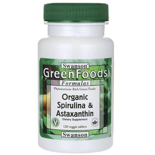 organiczna spirulina i astaksantyna 120 tabletek marki Swanson