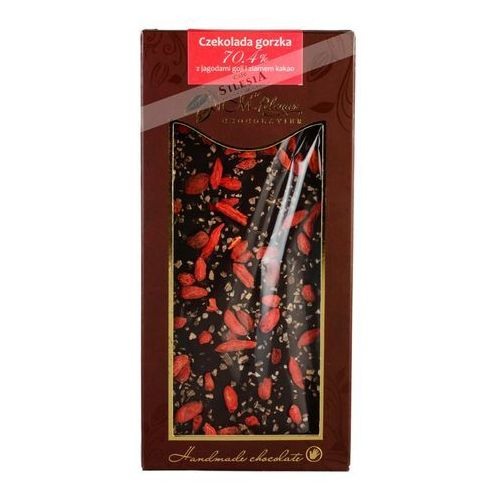 M.Pelczar czekolada gorzka 70,4% z jagodami goji i ziarnem kakao 85g (5902768996623)