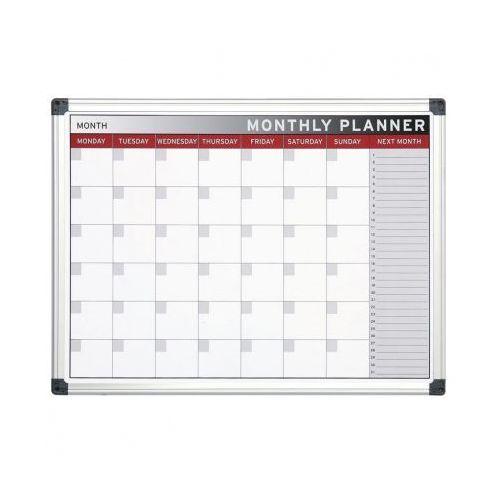 Planer, tablica suchościeralno-magnetyczna do planowania miesięcznego, 600x450 mm marki Bi-office