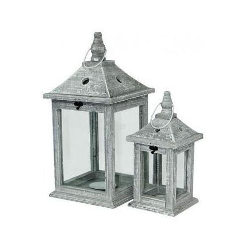 Lampion drewniany komplet 2 szt H: 45 H: 30