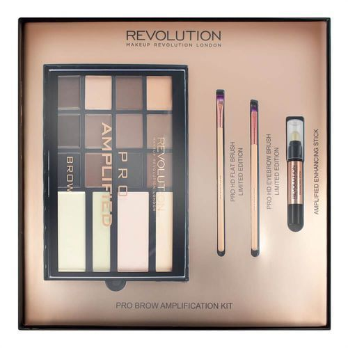 MAKEUP REVOLUTION - PRO BROW AMPLIFICATION KIT - Zestaw do makijażu brwi