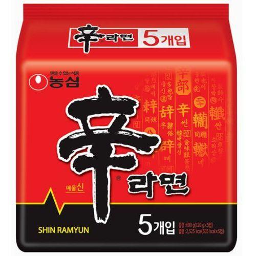 Oryginalna zupa Shin Ramyun, bardzo ostra 5 x 120g - Nongshim (8801043021883)