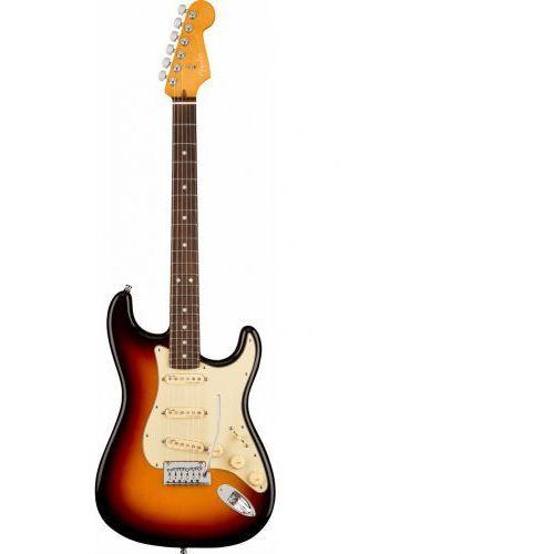 Fender american ultra stratocaster ultraburst gitara elektryczna, podstrunnica palisandrowa