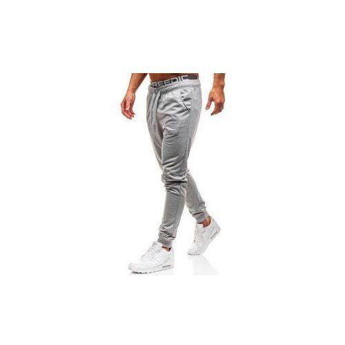 J.style Spodnie męskie dresowe joggery szare denley kk303