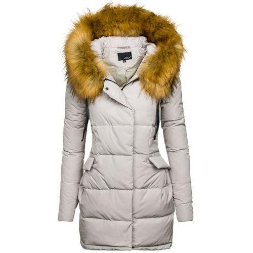 Szara kurtka zimowa damska Denley 8065 - SZARY - sprawdź w wybranym sklepie