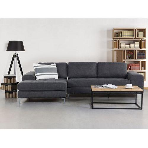 Beliani Sofa ciemnoszara - sofa narożna - tapicerowana - kiruna (7081453998734)