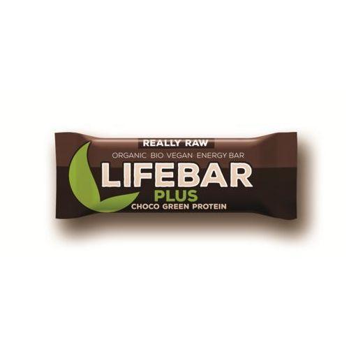 Lifefood (batony raw, syrop z jakonu) Baton czekoladowy z białkiem konopi i spiruliną raw bio 47 g - lifefood (8594071484583)