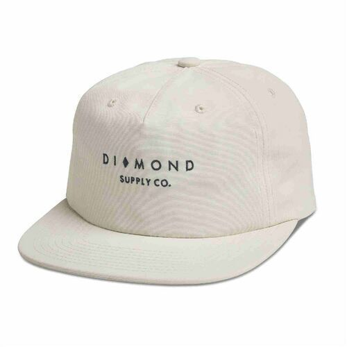czapka z daszkiem DIAMOND - Marquise Cut Clipback Sp18 White (WHT) rozmiar: OS, kolor biały