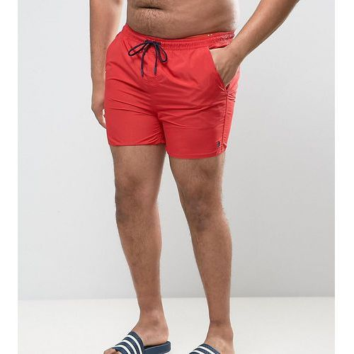 French Connection PLUS Swim Shorts with Contrast Draw String and Inner - Red